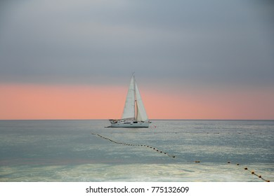 Sailboat in the sea in the evening, summer vacation in puket seabackgrounds