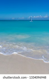 Sailboat in the Turks and Caicos Islands