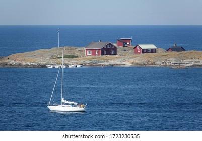 a Sailboat at Varberg, Sweden