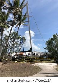 Sailboat Washed Ashore After Hurricane