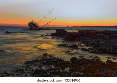 Sailboat Wreck, Yacht Rotted and ruined