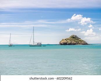 Sailboats off Antigua