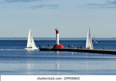 Sailboats on Lake Ontario