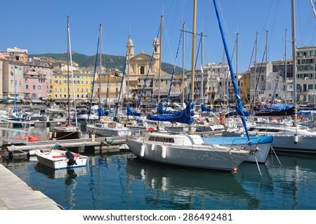 Sailboats Port Bastia Corsica Stock Photo Edit Now 286492481