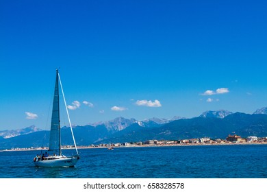 sailboats viareggio marina tourist town of the tuscan versiglia