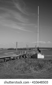 Sailing Boat - Black & White