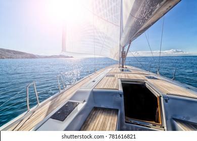 sailing boat in navigation