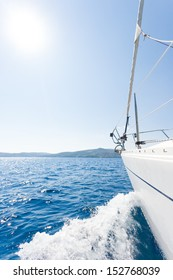 Sailing boat in the sea in Greece Yachting