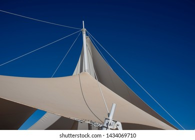 Sailing boats and a blue sky backdrop