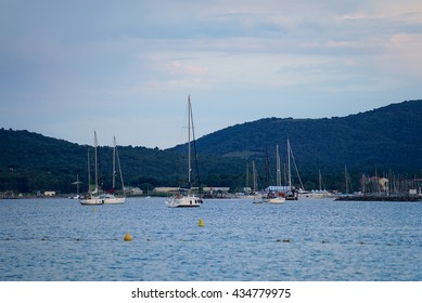 Sailing boats in Golfe du St Tropez