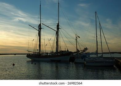 Sailing boats at the Kiili harbor in western coast of Finland