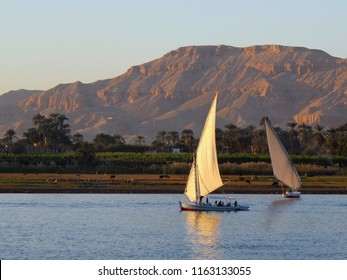 Sailing boats on the Rive Nile, Luxor