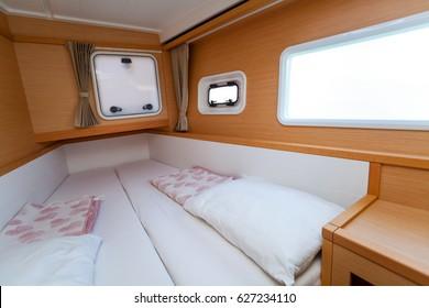 Sailing catamaran interior