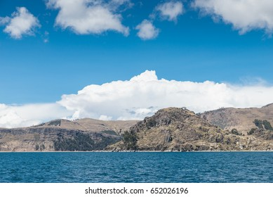 sailing from Copacabana to Isla del Sol, Titicaca Lake, Bolivia