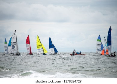 Sailing event in Schlewig Holstein off the island of Sylt on 08.04.2018