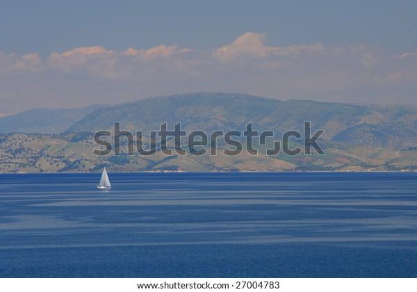 Sailing in Greece around Lefkas island