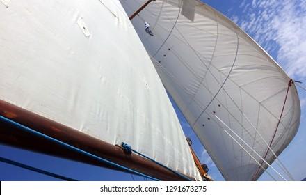 sailing - main sail and jib sail up