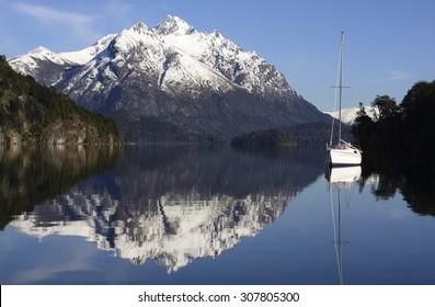 Sailing in the Nahuel Huapi National Park, Bariloche, Patagonia, Argentina