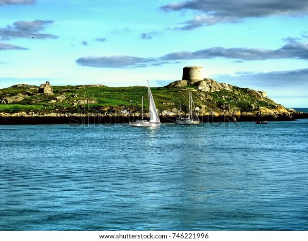 Sailing near Dalkey Island in Dublin, Ireland
