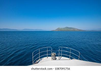 Sailing on a cruise ship, Greece