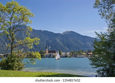 Sailing on the Tegernsee near Rottach Egern