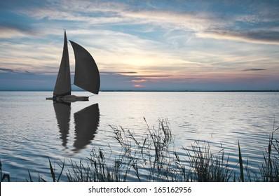 sailing the open sea,
