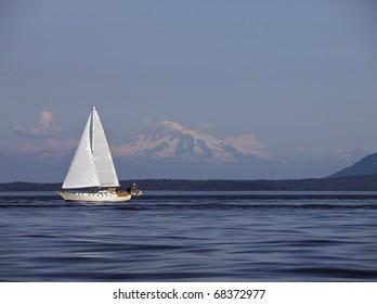 Sailing Past Mount Baker