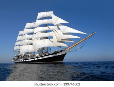 Sailing ship. Cruise sailing.