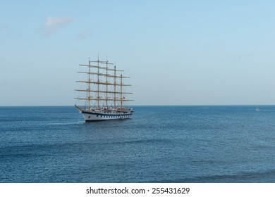 Sailing ship on Basseterre Bay, St. Kitts