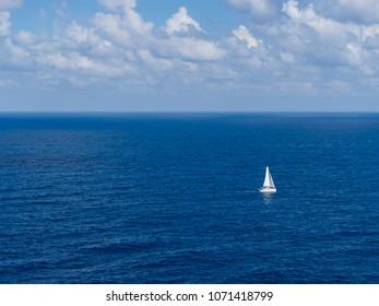 sailing ship on blue sea