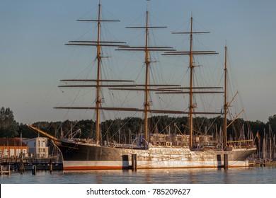 Sailing ship Passat in Travemuende, Germany