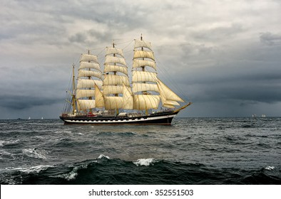 Sailing ship race. Yachting. Sailing