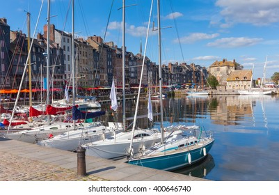 Sailing Ships in the Harbour of Honfleur