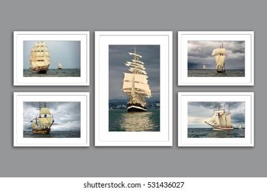 Sailing ships regatta. Yachting. Sailing