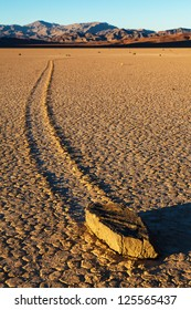 Sailing Stones Of Death Valley National Park