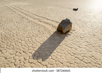 sailing stones on the Racetrack Playa in Death Valley National Park, California