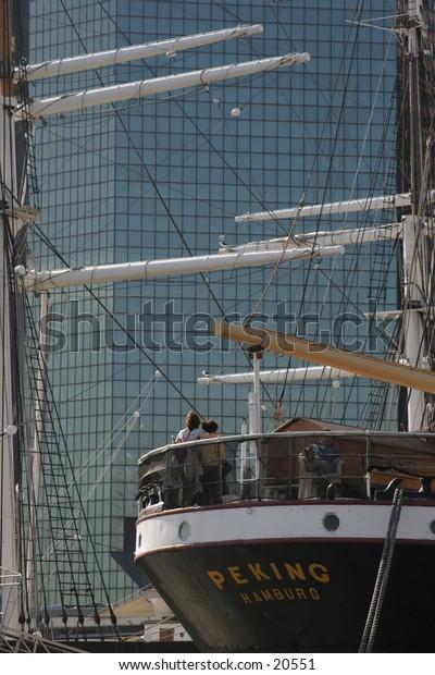 Sailing through Downtown Manhattan