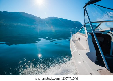 Sailing yacht boat on sea water. Outdoor lifestyle.