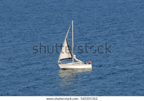 Sailing yacht at the French Coast, France
