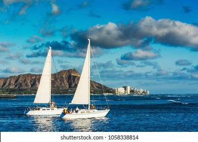 sailing yacht leisure activity adventure sport in Hawaii