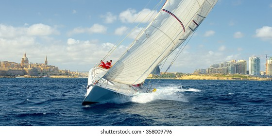 Sailing yacht race. Sail. Yachting. Sailing