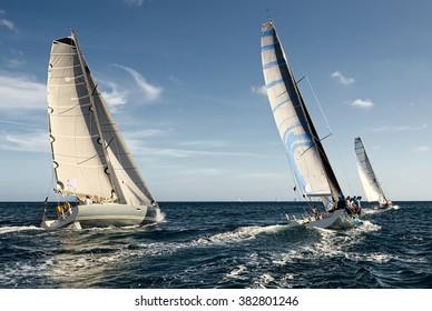 Sailing yacht race. Sailing.  Yachting