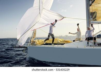 Sailing yacht race. Yachting. Sailing
