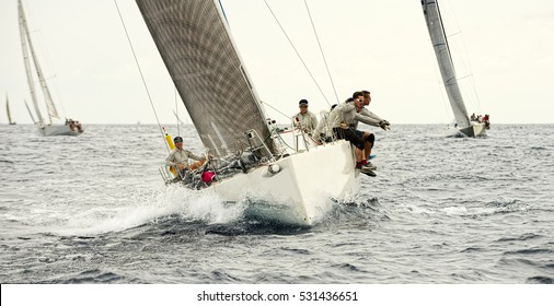 Sailing. Sailing yacht race. Yachting