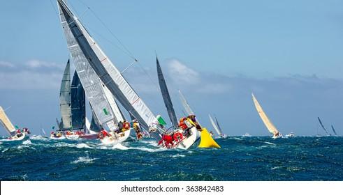 Sailing yachts.  Yachting. Sailing