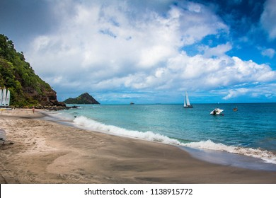 SAILING,CARIBBEAN SEA,ST LUCIA-13th SEPTEMBER 2017:-sailing around the island of Stlucia, in the tranquil waters of the caribbean sea.