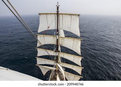 sailing-ship - sailing on the calm ocean