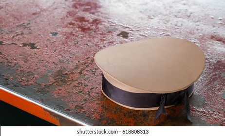Sailor hat on table