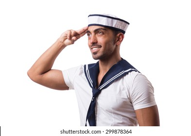 Sailor isolated on the white background