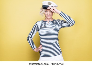 Sailor Woman in strip shirt
